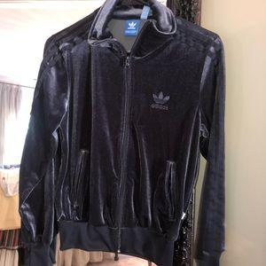 Jackets & Blazers - Adidas velvet zip-up